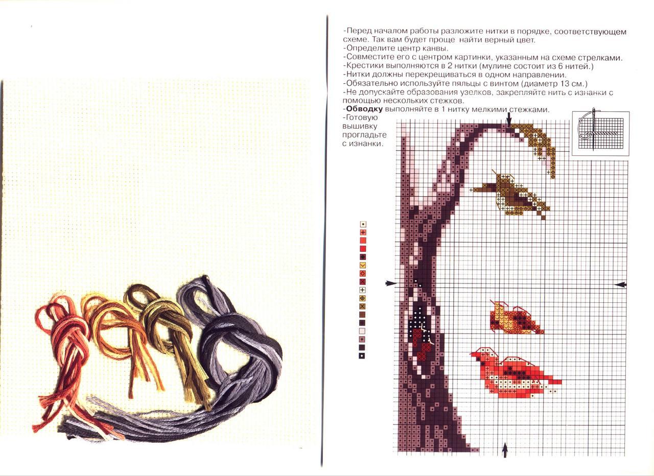 Схема вышивки лицо бисером