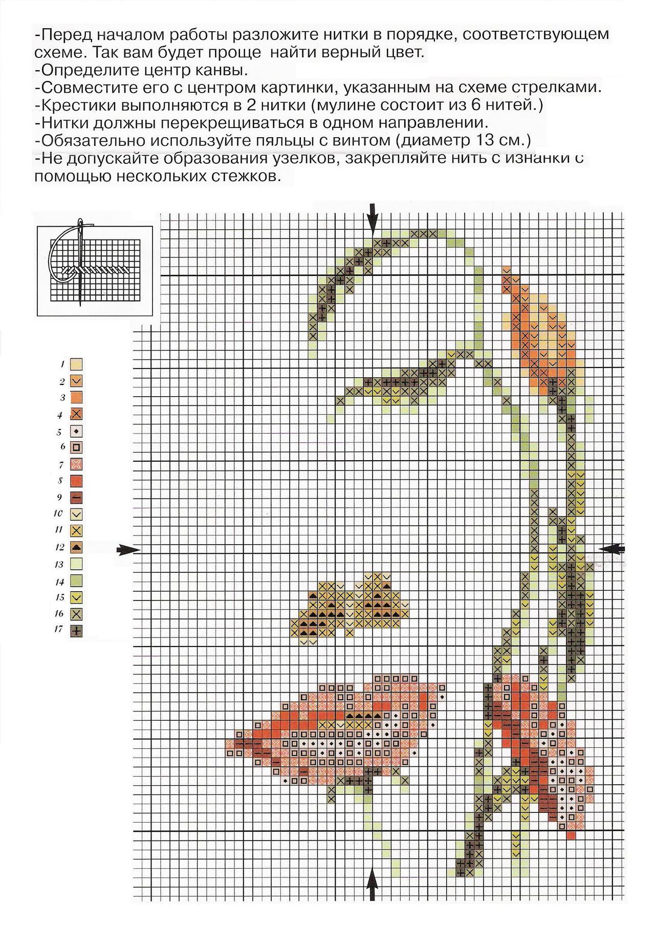 Схема вышивки крестом женщины 11 фотография