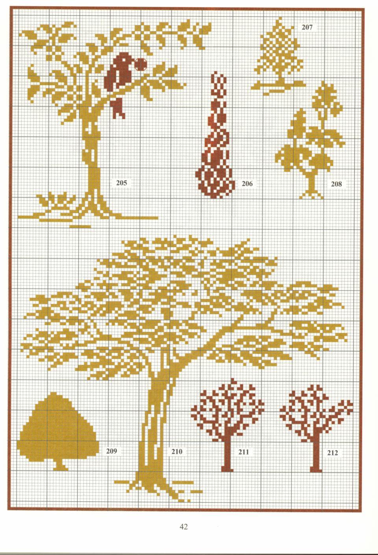 Вышивка крестом схема простое дерево Схемы вышивки крестом бесплатно, скачать схемы вышивки