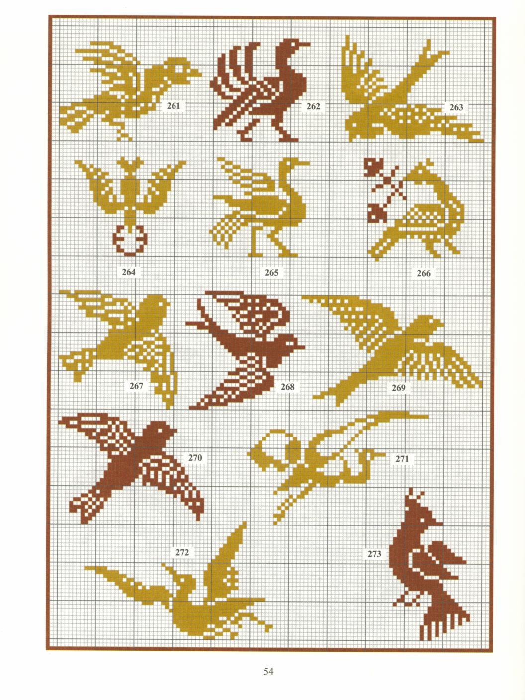 Схемы вышивки крестом монохромные орнаменты
