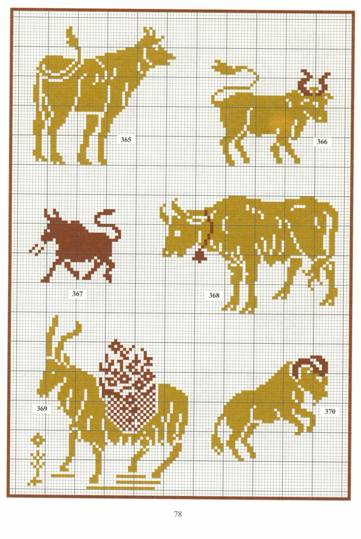 Схемы больших монохромных вышивок
