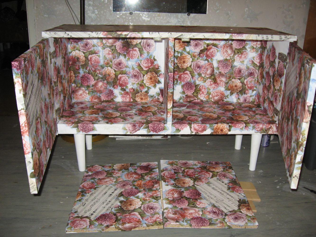 Декупаж старой советской мебели своими руками
