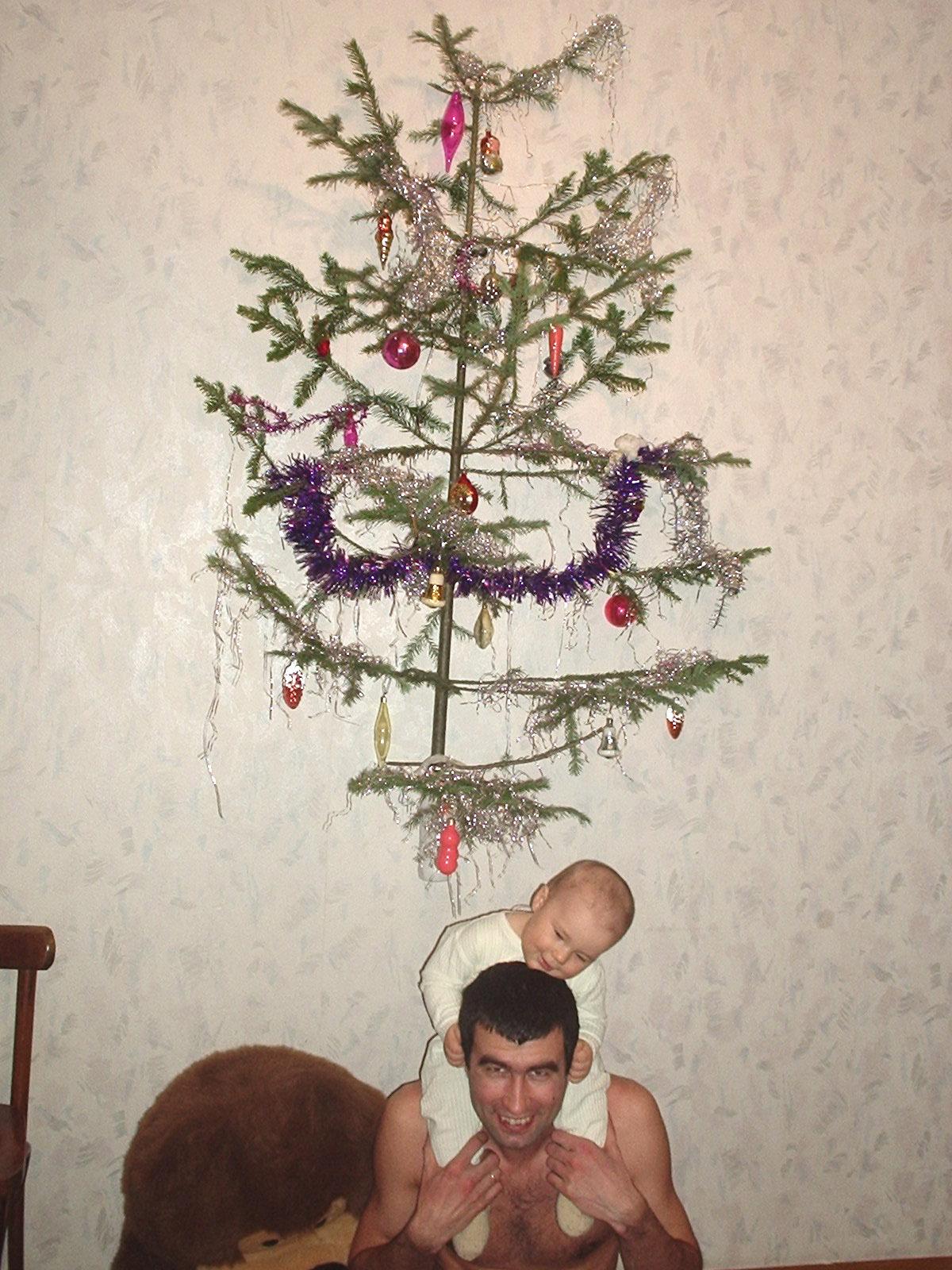 Ограждение елки от детей фото