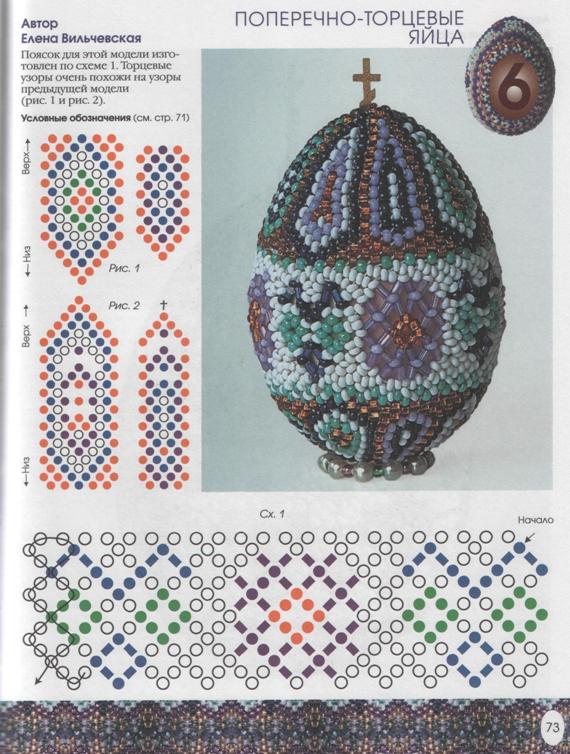 бисер схемы яйцо пасхальное