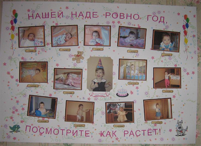 Плакат своими руками на годик мальчику