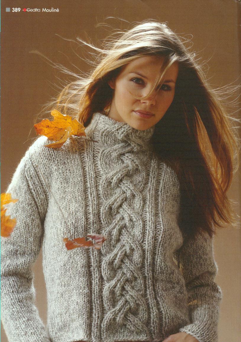Вязаный Пуловер С Косами Доставка
