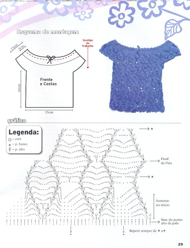 Блузки И Топы Крючком Со Схемами