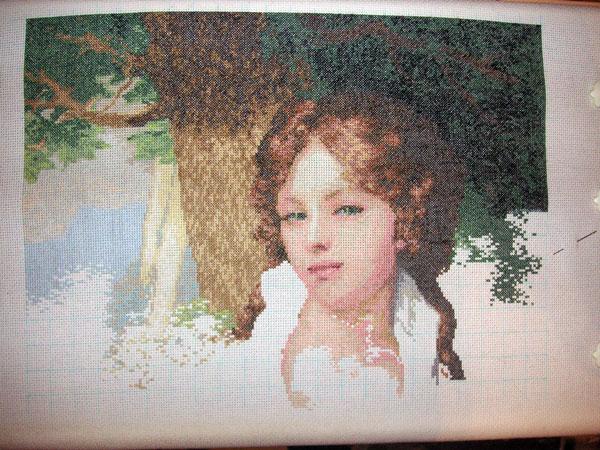 Лопухиной портрет вышивка крестом 9