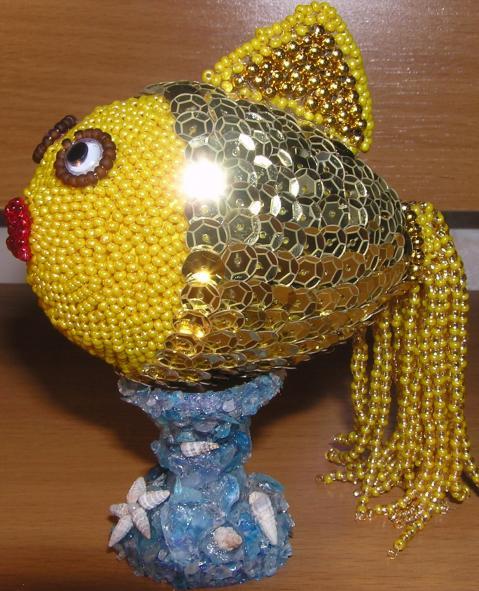 Как сделать поделку своими руками золотая рыбка