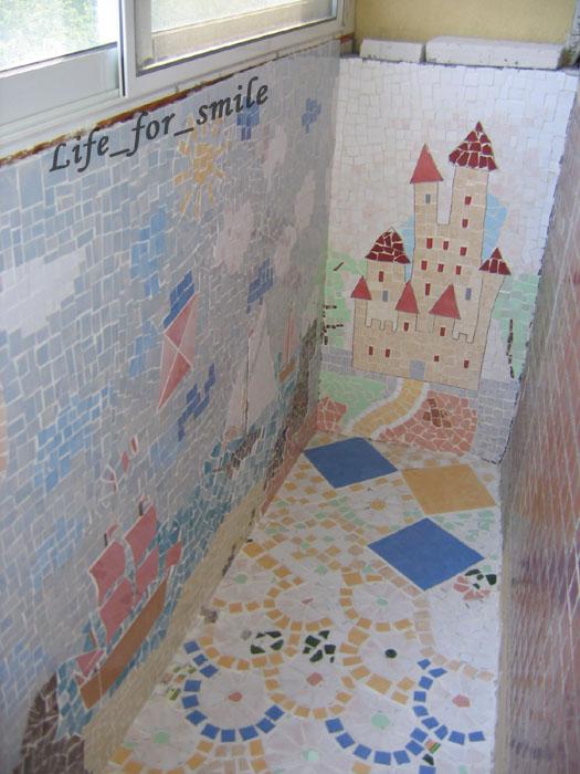 Вид направо. мозаика - керамические плитки. фотоальбом участ.