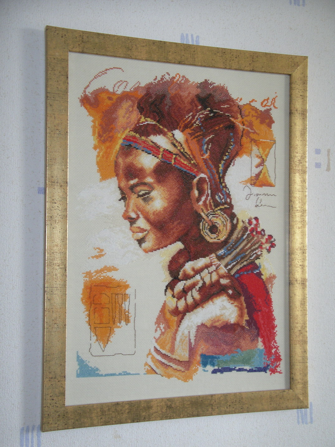 Вышивка ланарте африканка