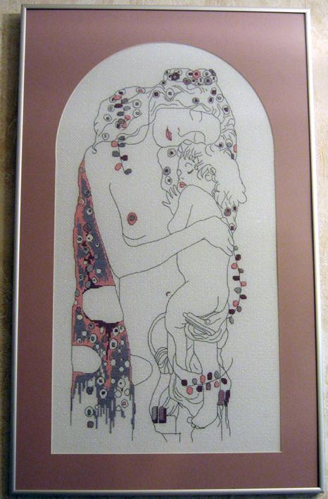 Мать и дитя по мотивам картины