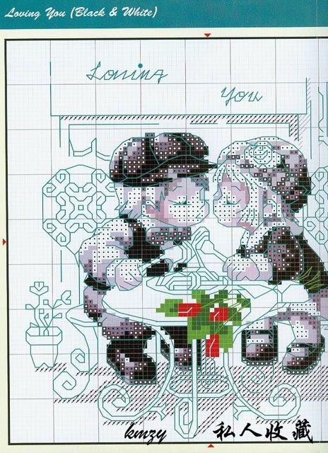 Схема для вышивки крестом i love you