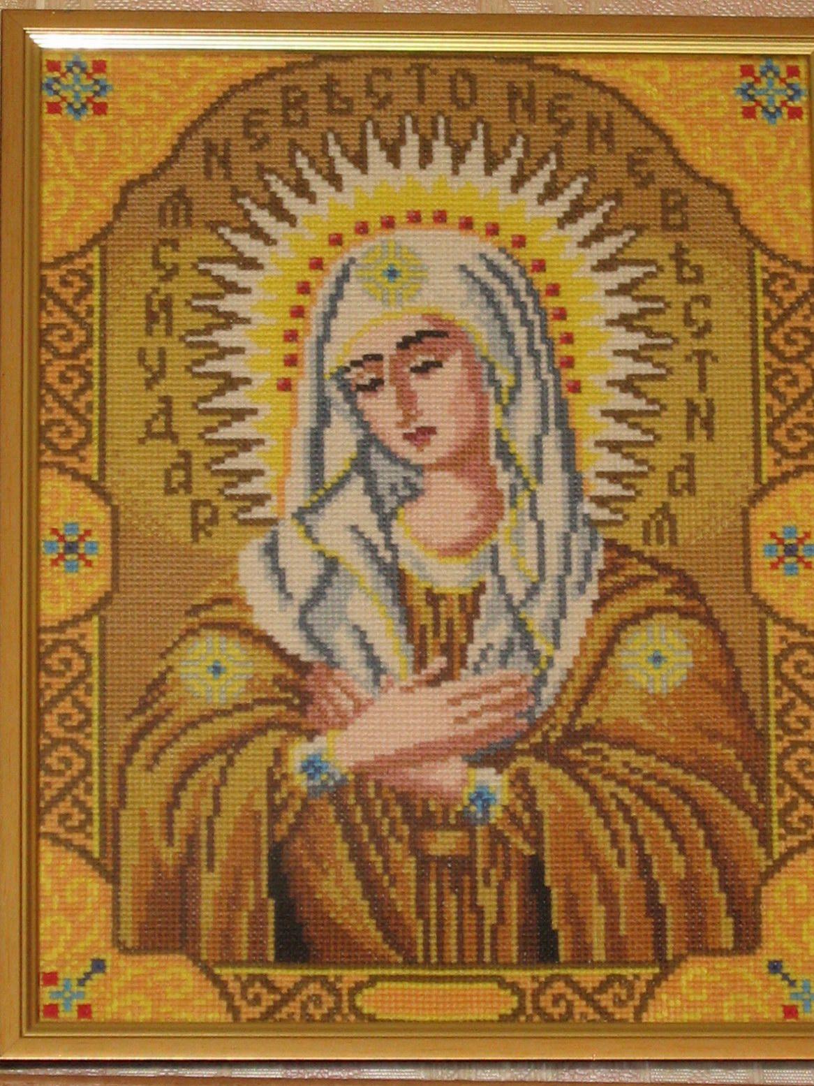 Божья матерь вышивка схема