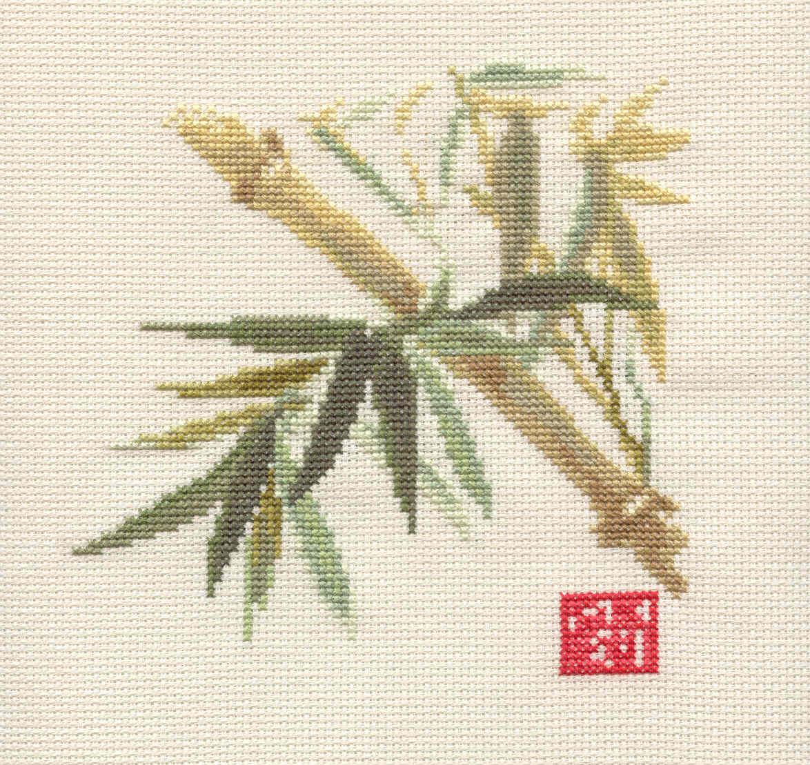 Бамбук схемы вышивок
