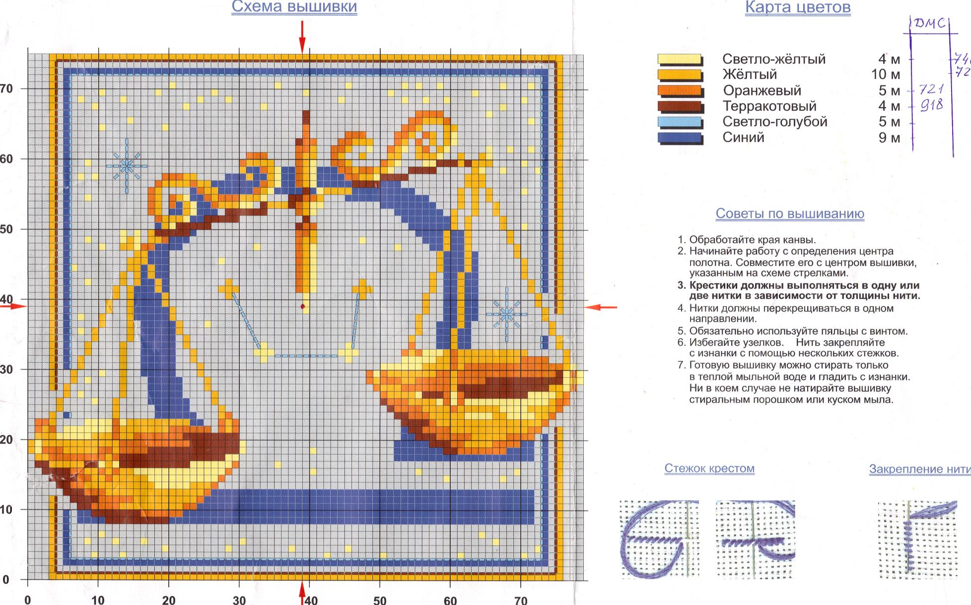 Схема вышивки крестом Овен (21 марта 20 апреля) 49