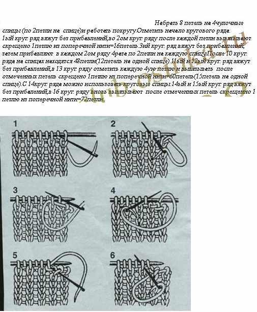 Вязание резинок на круговых спицах 325