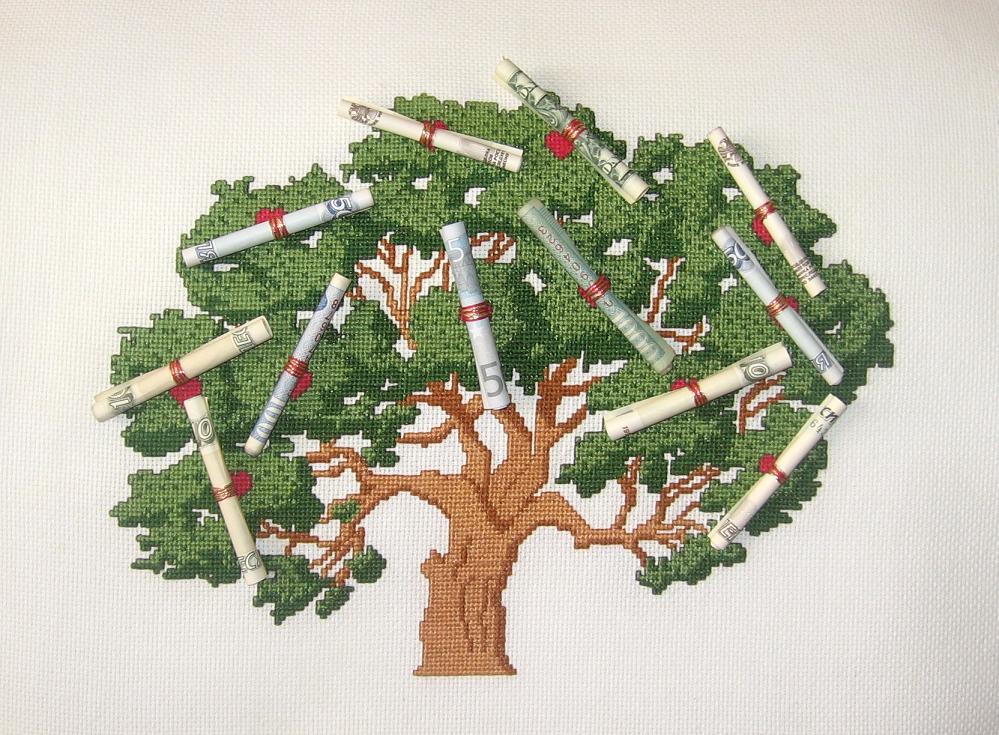 Дерево на подарок своими руками