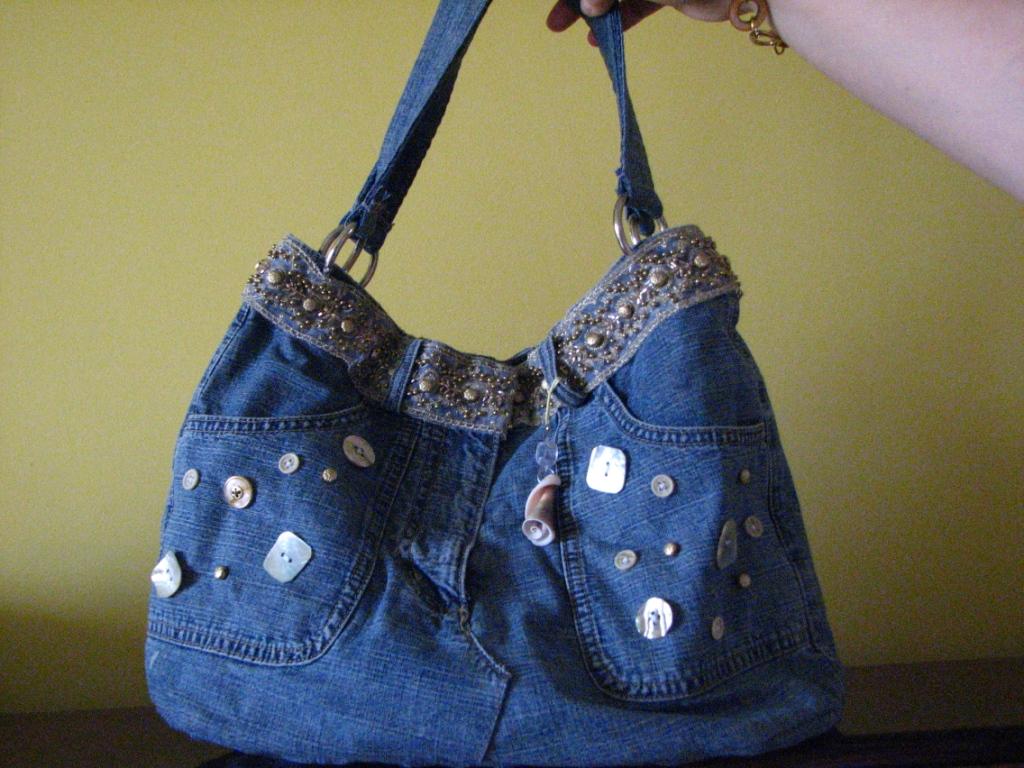 Сумки шьем из старых джинсов своими руками 776