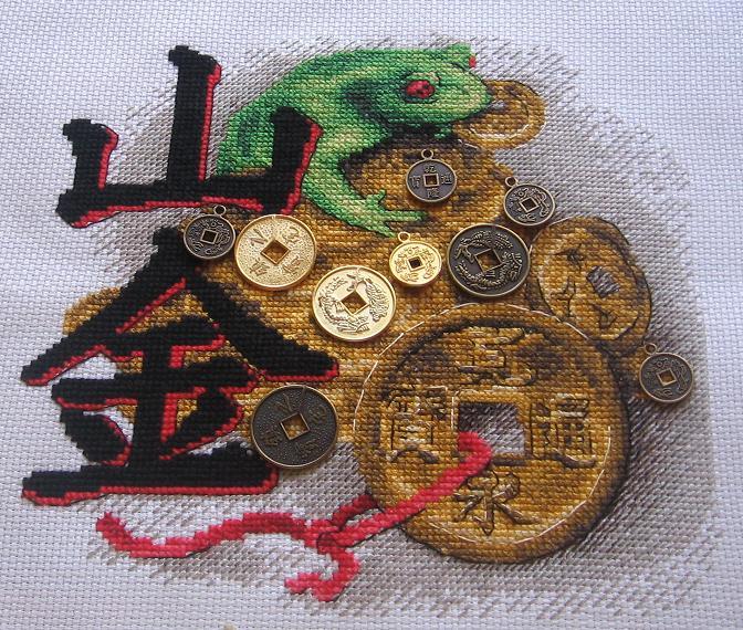 Схемы вышивок трехногая жаба с монеткой