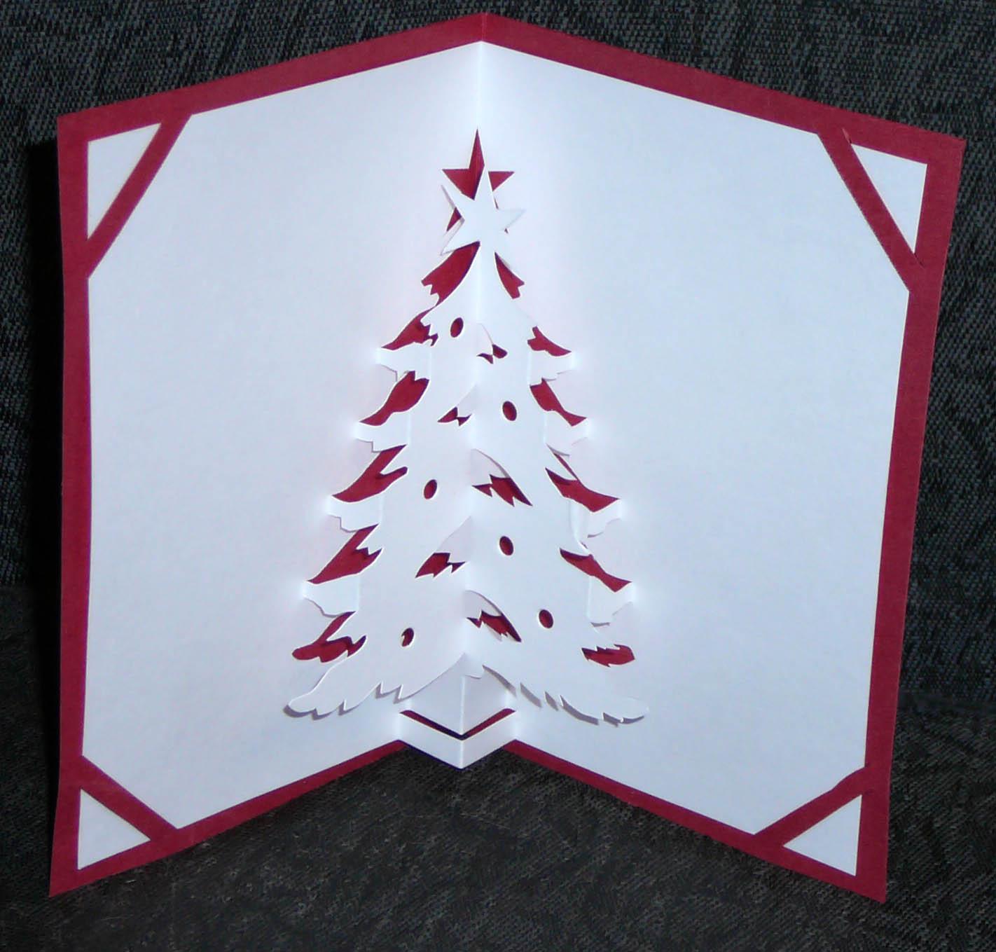 Новогоднее киригами своими руками