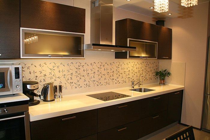 Черно белая кухня какой фартук цвет