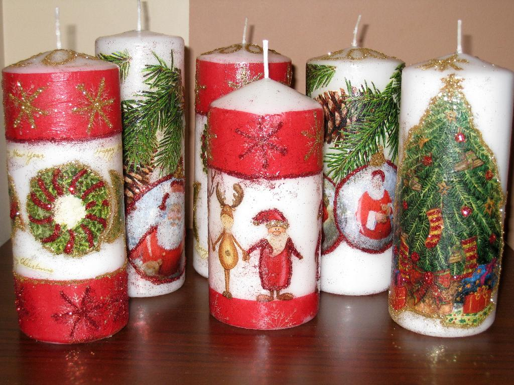 Свечи новогодние своими руками с фото