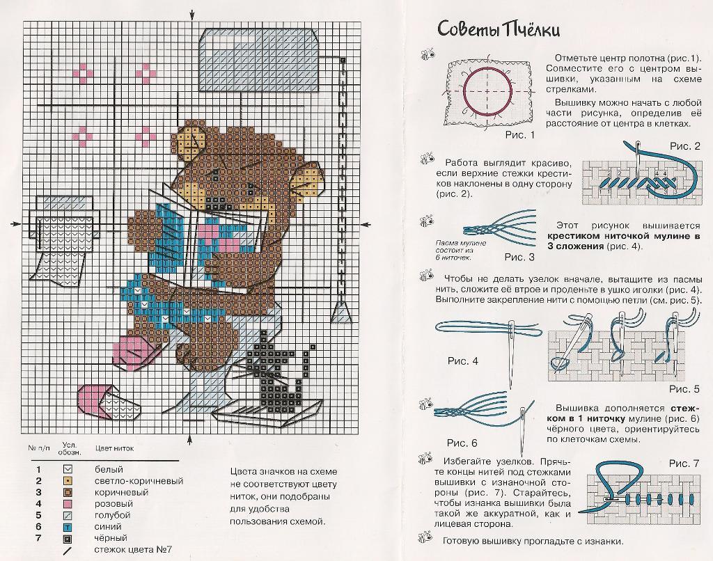 Доска схем для вышивания