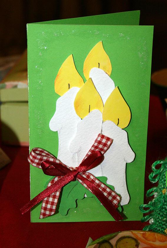 Сделать рождественскую открытку своими руками