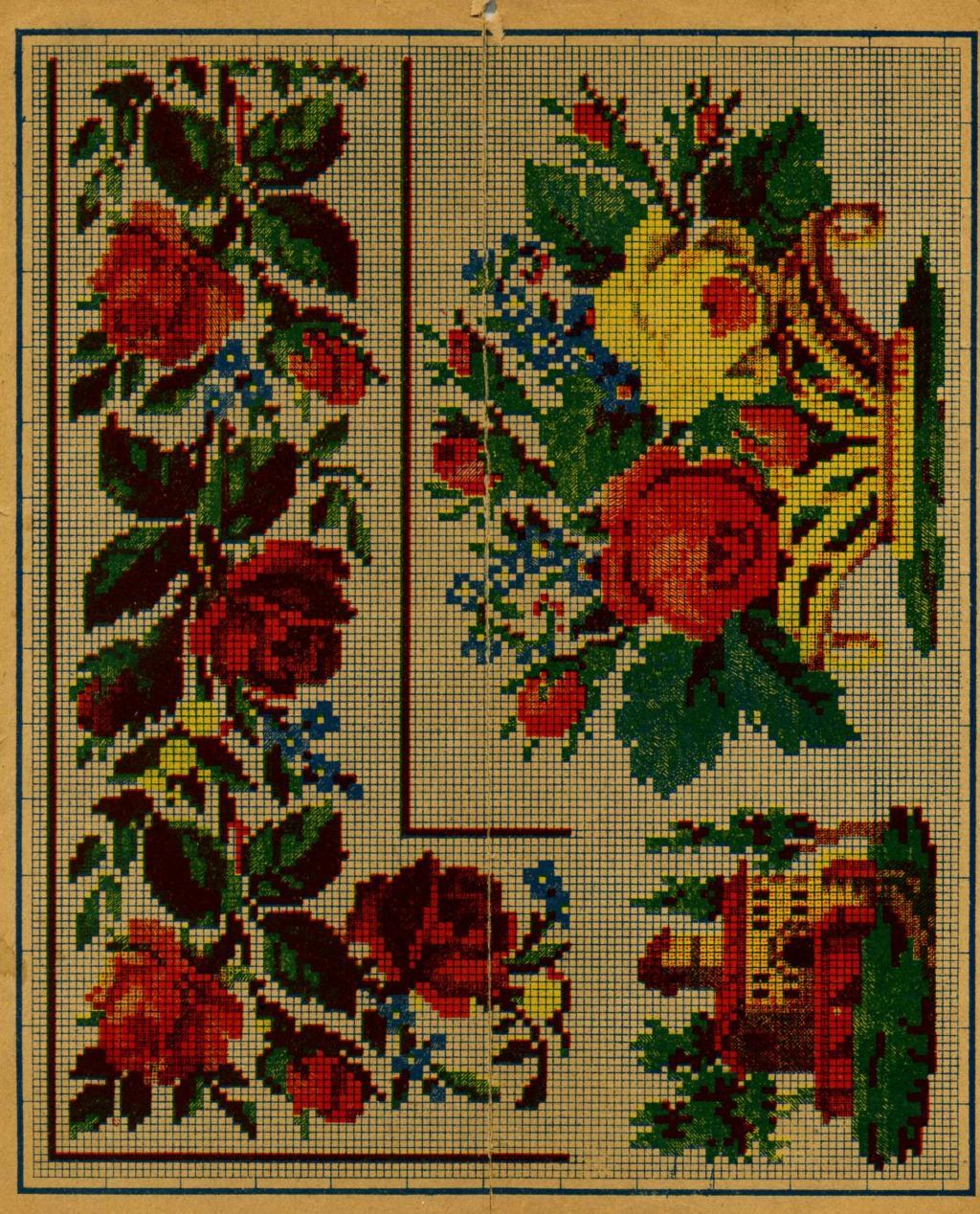 Вышивка крестом схемы старых вышивок 528