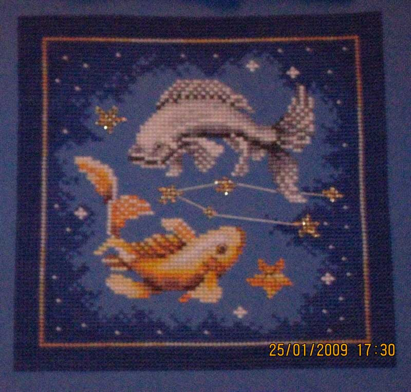 Знаки зодиака рыбы вышивка 82