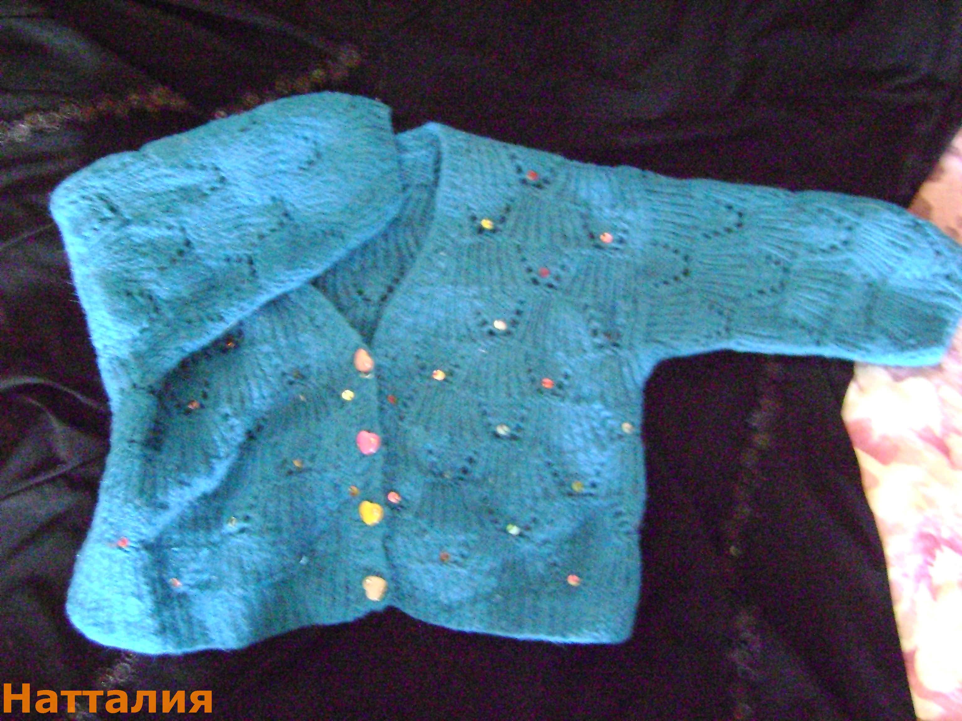 Вязание кофточки для девочки из мохера