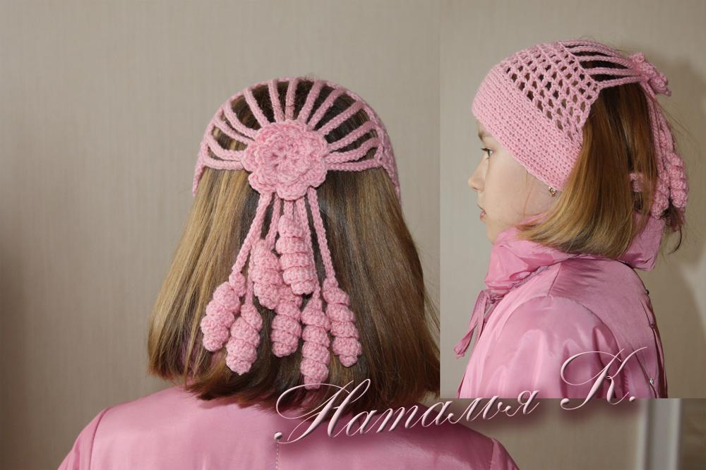 Вязание головные уборы для девочек 83