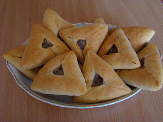 Треугольные беляши с мясом рецепт с фото