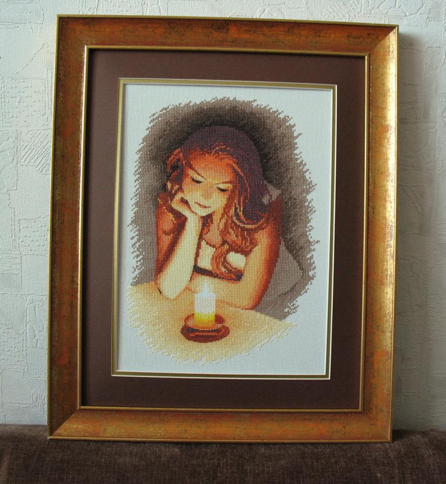 Девушка со свечой схема вышивки 23