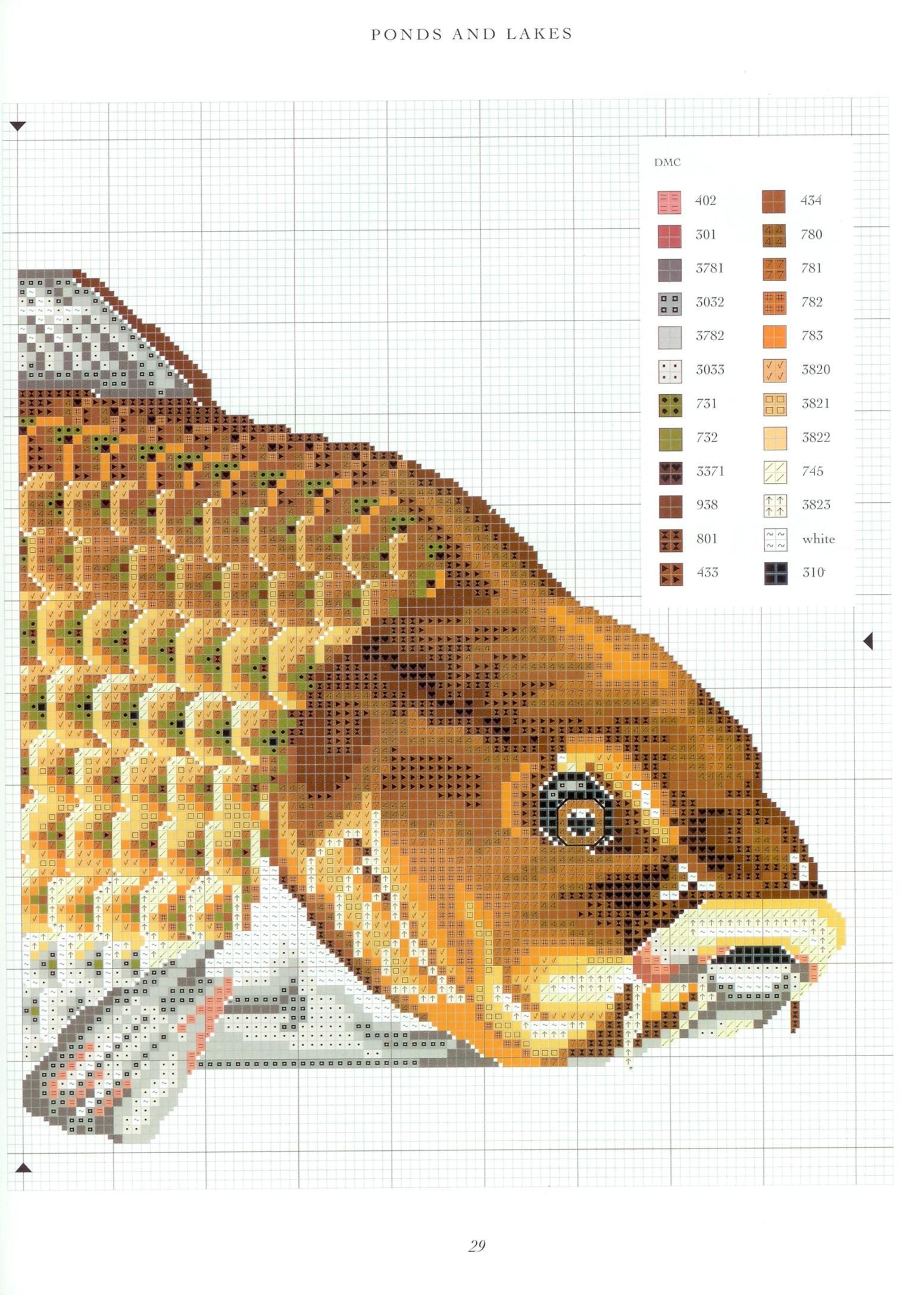 Вышивка крестиком фото рыбы