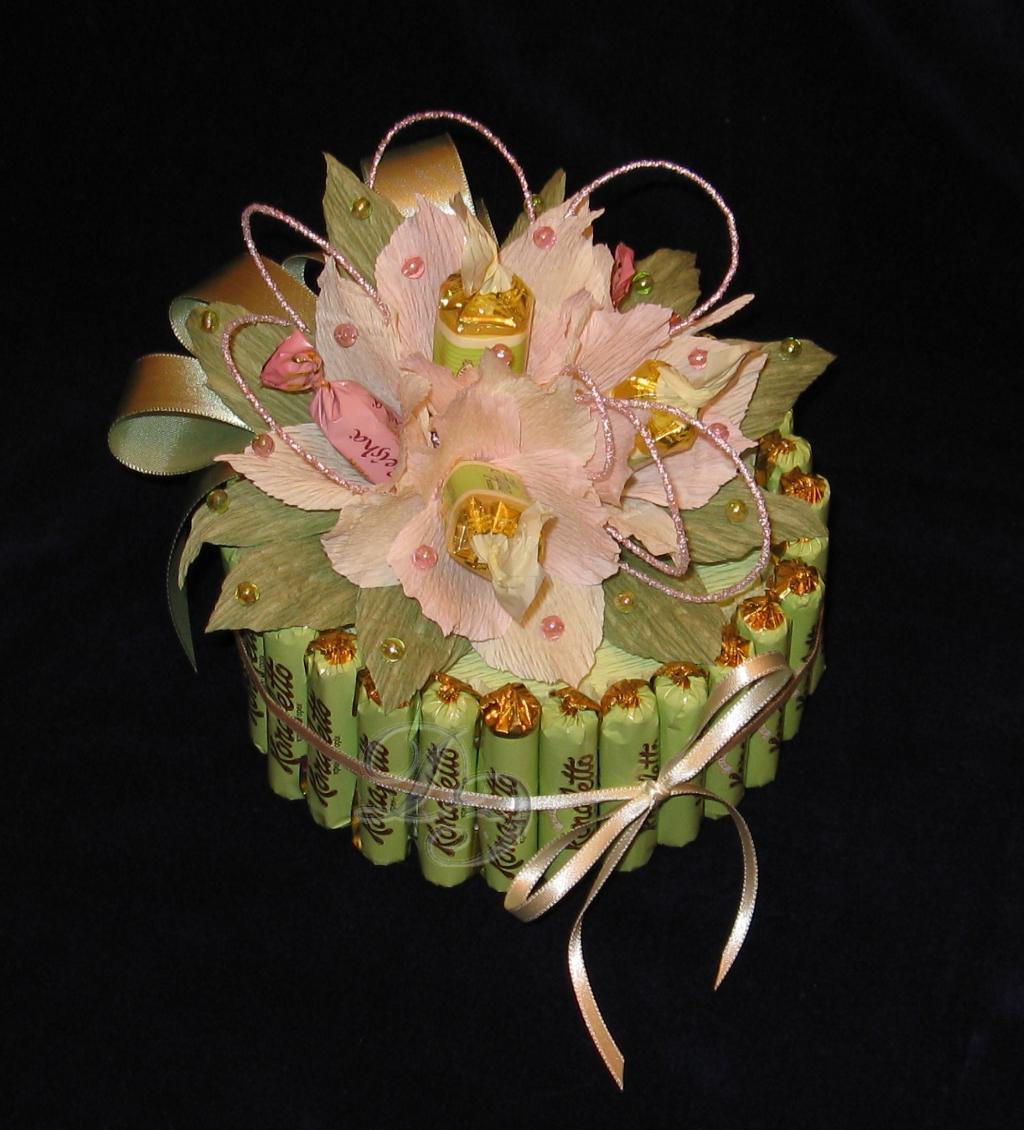 Карандаш из конфет пошаговое фото