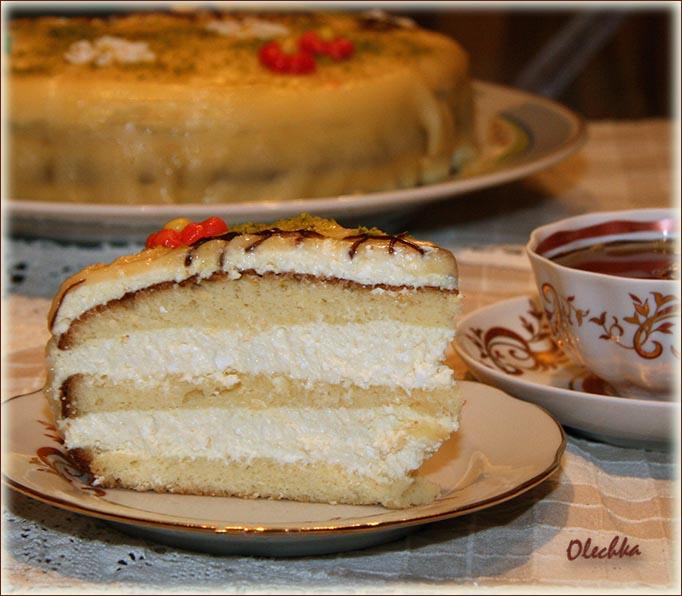 Рецепт торта с кремом творожным