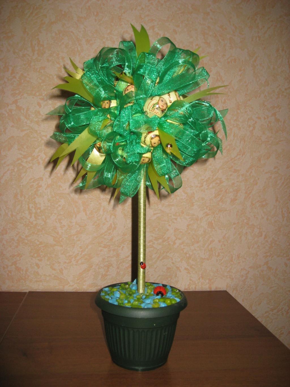 Дерево из конфет своими руками мастер класс 59