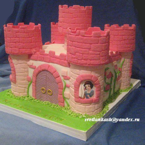 Торт замок пошагово