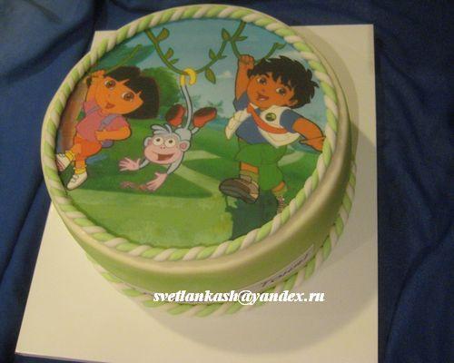 Детский торт с дашей путешественницей фото