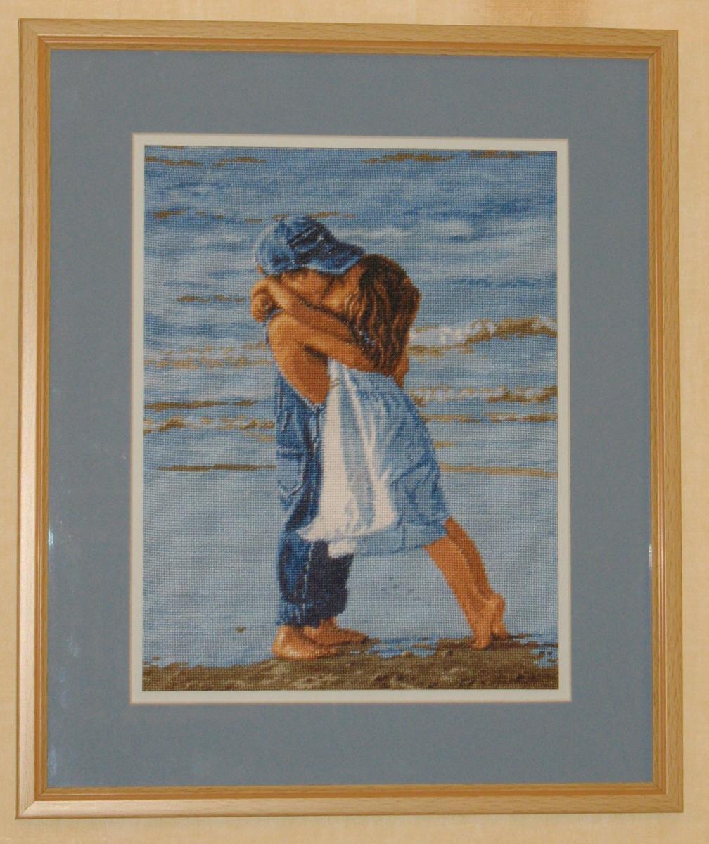 Вышивка дети на пляже