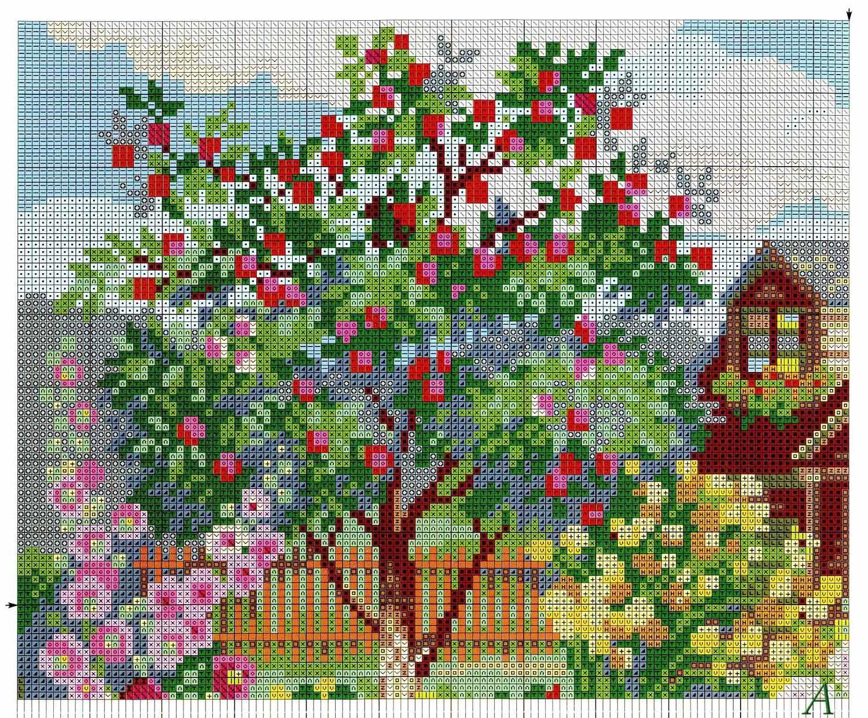 Вышивка садов схемы