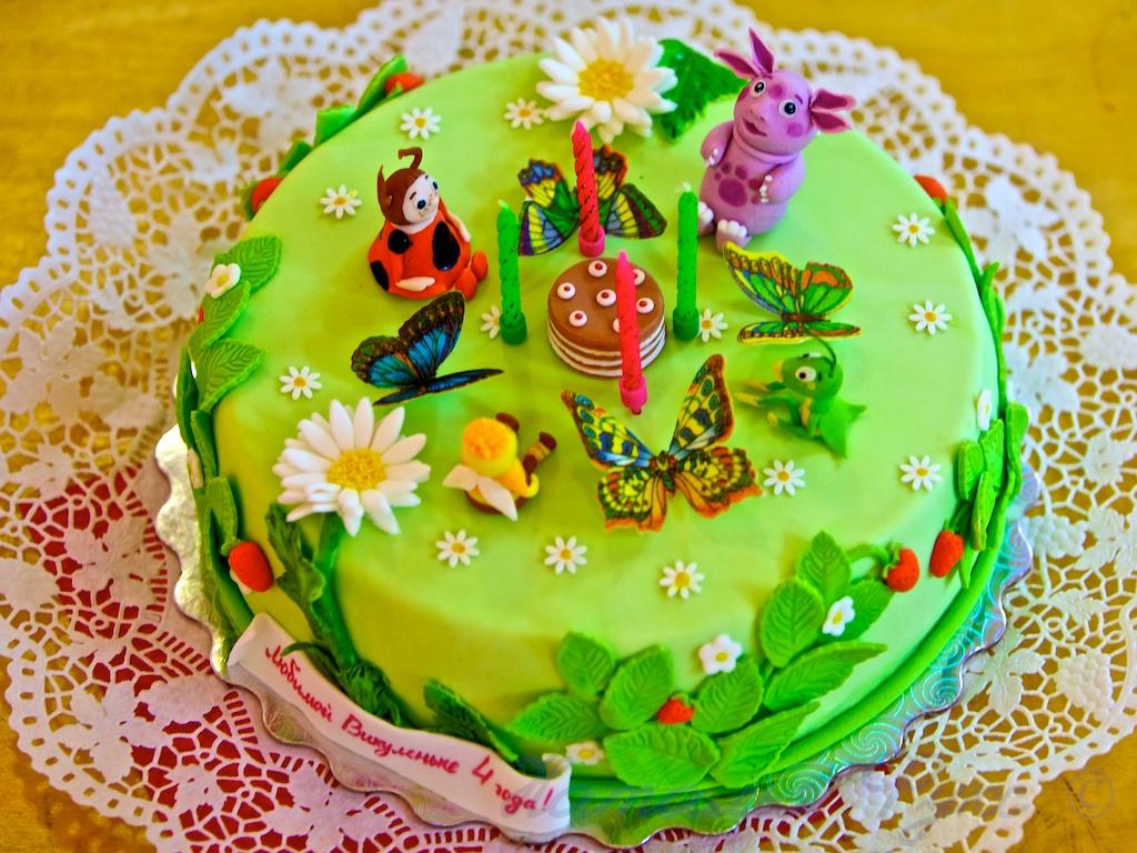 Торт ребенку на 4 года