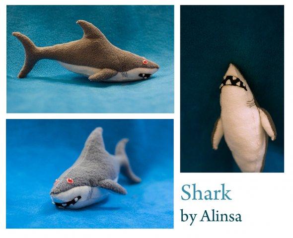 Игрушка акула сшить своими руками