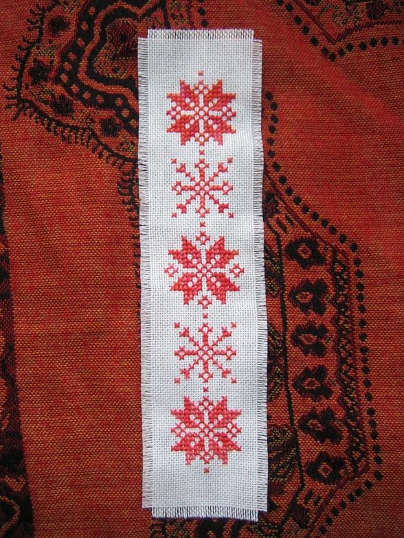 Новогодняя закладка вышивка