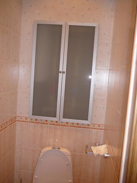 У кого сантехнический люк в туалете сделан под плитку?