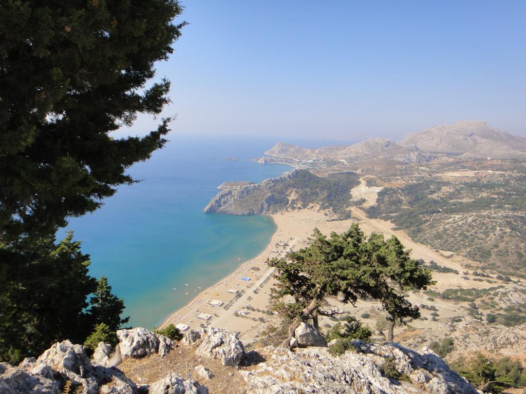 вид на пляж Цамбика. 10 Греция - Родос . Фотоальбом участника ...