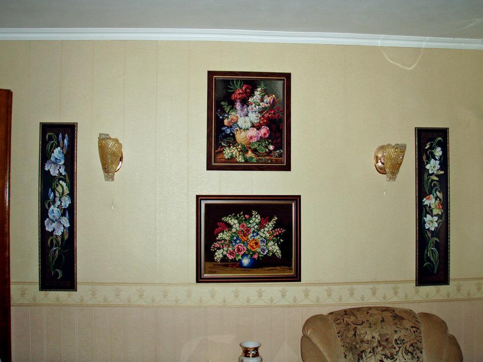 Интерьер квартиры с вышивкой