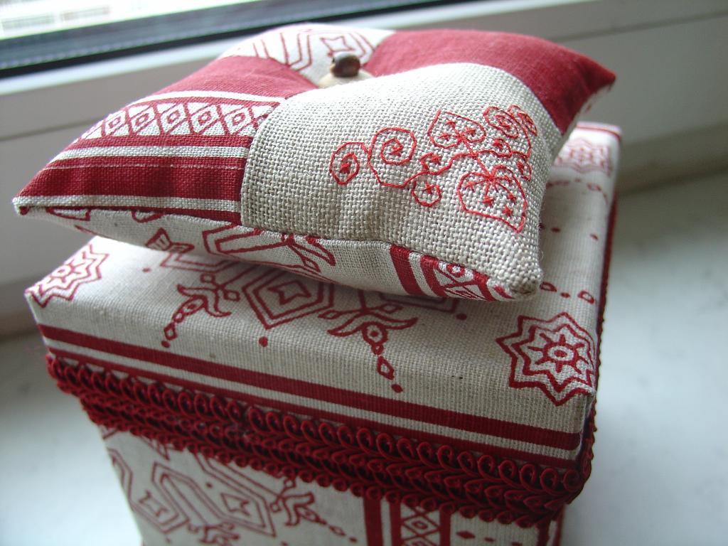 Коробки для рукоделия тканью